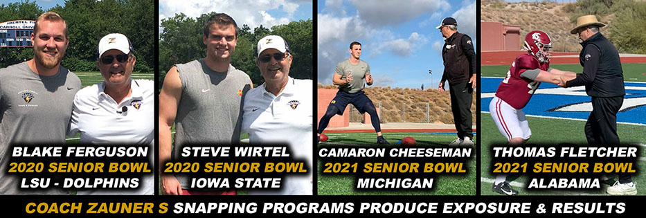 COACH ZAUNER'S COMBINES PRODUCE NFL SNAPPPERS